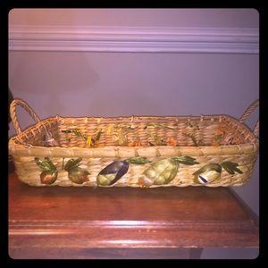 Vintage tray basket